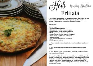 Recipe Card for Herb Frittata Stacy Lyn Harris